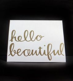 """Hello Beautiful"" Cards 