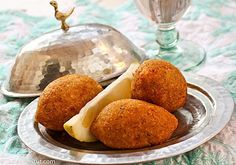 Pumpkin Kibbeh filled with Chard, Walnuts and Onions