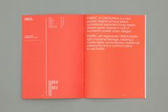 Fabric of Onehunga by Richards Partners, New Zealand. #branding #brochure
