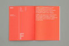 Fabric of Onehunga by Richards Partners, New Zealand. #branding #brochure