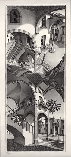 mc escher su e giu - Google Search