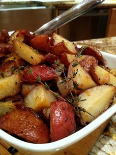Pantry Dreams: Roasted Potatoes with Pearl Onions and Bacon