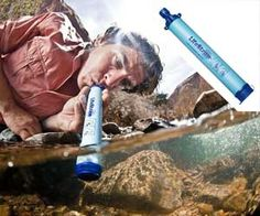 """A safe way to get emergency drinking water while out hiking or camping. Sip clean water from almost any source, from puddles to streams. Doesn't use chemicals! It's even a Time Magazine """"Invention of the Year"""". With millions sold, this is one of those devices that could truly be a life saver! Always be prepared!"""