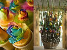 世にも珍しい虹色のバラ「レインボーローズ」と、家庭でもできるキレイな花の染め方 - GIGAZINE
