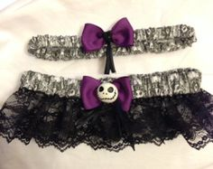 Custom Nightmare Before Christmas Jack Skellington Keepsake and toss wedding garter