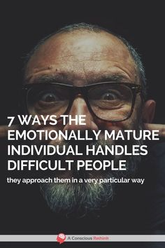 We all have to deal with difficult people in our lives from time to time - here is how an emotionally mature person goes about it. Difficult People Quotes, Working With Difficult People, Difficult Relationship Quotes, People Use You, Working People, Pretty Quotes, Knowledge And Wisdom, Human Behavior, Conflict Resolution