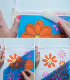How to use stencils with fabric paint – step-by-step tutorial