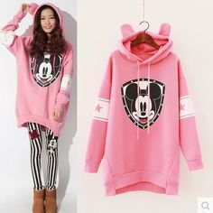 (31.82$)  Watch now - http://ai38i.worlditems.win/all/product.php?id=32774074339 - Maternity clothes loose mickey cartoon BoWei hooded clothing Large size Two pieces
