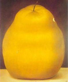 Pear by Fernando Botero