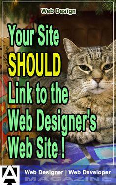 Somewhat controversial, I'm sure, but. Your site SHOULD link to your web designer's site. This article explains why. Web Design Company, Site Design, Business Marketing, Web Development, Entrepreneurship, Magazine, Website, Link, Website Designs