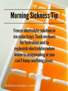Prego ideas ...... morning sickness tip