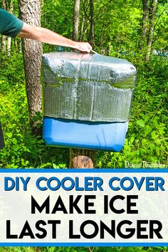 DIY Insulated Ice Chest Cooler Cover Tutorial - Need to keep food cold while camping or travel? Extend the life of the ice in your ice chest while outdoors or in hot weather with this DIY Insulated Cooler Cover. It really works!