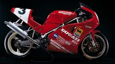 Raymond Roche Ducati 851 He won the first Superbike world champion title for Ducati 1990