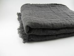 Handmade Linen Throw / Beach Towel / Tablecloth by huebycrafts