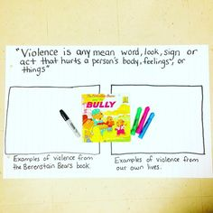 Educate.Invest.Inspire: Teaching Health and Physical Education to grades to primary, junior, and intermediate today! In health we focused on what violence means, the different types of violence (verbal/physical), and identified violence in the book as well as our lives (seen or experienced). Really great lesson! Physical Education Curriculum, Health And Physical Education, Ministry Of Education, Student Engagement, Learning Environments, Bullying, Counseling, The Fosters, The Book