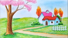 Scenery images for drawing. All the best scenery drawing 34 collected on this page. How To Draw Beautiful Scenery Step Beautiful Scenery Paintings, Beautiful Easy Drawings, Beautiful Scenery Pictures, Scenery Drawing Pencil, Scenery Drawing For Kids, Landscape Drawings, Cool Landscapes, Art Drawings, Landscape Pictures