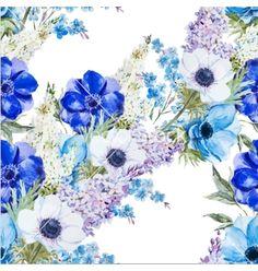 Anemones vector watercolor flower- by Zenina on VectorStock®