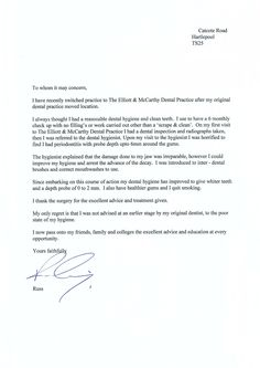16 best patient testimonial letters and emails images on pinterest thank you letter wajeb Image collections