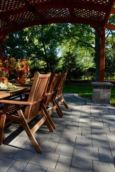 Unilock patio with Richcliff paver