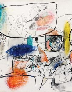 Virginia Landscape (1943) - Abstract Expressionism by Armenian born Arshile Gorky