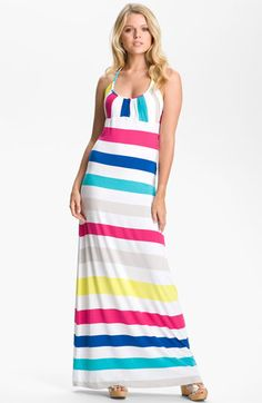 FELICITY & COCO 'Candy Stripe' Jersey Maxi Dress available at Nordstrom
