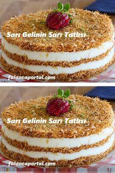Sarı Gelinin Sarı Tatlısı – Tatlı tarifleri – Las recetas más prácticas y fáciles Easy Cake Recipes, Dessert Recipes, Cafe Pasta, Pasta Cake, Delicious Desserts, Yummy Food, Food Wishes, Turkish Sweets, Food Design