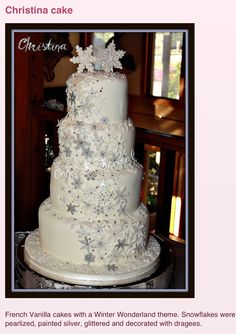 Beautiful winter wedding cake