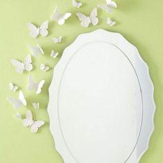 Декор бабочками, бабочки в интерьере