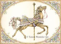 Carousel Horse Drawings | Carousel Horse Designs Springdrawingblog.jpg