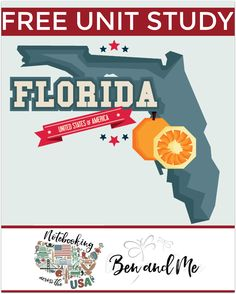 """FREE Florida Unit Study for grades 3-8 -- learn about the """"Sunshine State"""" in this 27th installment of Notebooking Across the USA."""