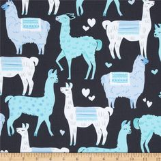 Michael+Miller+Packmates+Blue from Designed+for+Michael+Miller,+this+cotton+print+is+perfect+for+quilting,+apparel+and+home+decor+accents.+Colors+include+charcoal+grey,+white+and+shades+of+blue. Colorful Interior Design, Colorful Decor, Home Decor Colors, House Colors, J Craft, Llama Decor, I Spy Quilt, Novelty Fabric, Textile Patterns