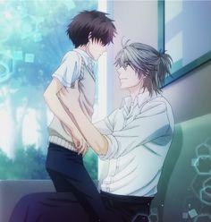 Haru and Ren from Super Lovers Anime Boys, Manga Anime, Otaku Anime, Ai No Kusabi, Love Stage, Anime Pixel Art, Levi X Eren, Shall We Date, Manga Love