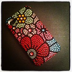 iPhone 4 and iPhone Art Deco Sparkling Flowers Bling Rhinestone case Eye Phone Case, Bling Phone Cases, Iphone 4s, Iphone Cases, Art Deco Flowers, Mobile Stand, Diy Candle Holders, Diy Crystals, Bead Embroidery Jewelry