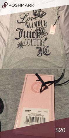 Juicy shirt Grey cap sleeve t shirt XL Juicy Couture Tops