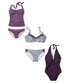 If you have a large bust, look for a bathing suit with plenty of support: wide or adjustable straps, underwire, seamed cups, boning, and a sturdy lining will all help lift your chest.