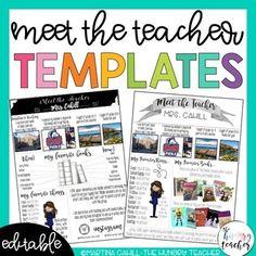 Syllabus and Meet the Teacher Editable Infographic Templates Bundle High School Classroom, Future Classroom, Classroom Ideas, Syllabus Template, Meet The Teacher Template, Teacher Brochure, School Forms, Kindergarten Readiness, School Grades