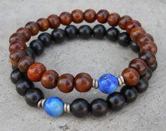Compassion genuine Lapis Lazuli guru bead sandalwood by lovepray