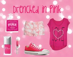 """""""Drenched in Pink"""" by leklink on Polyvore"""