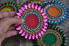 Your place to buy and sell all things handmade Diya Designs, Rangoli Designs Flower, Rangoli Ideas, Diwali Diy, Diwali Party, Diwali Gifts, Indian Wedding Favors, Wedding Favor Bags, Wedding Gifts