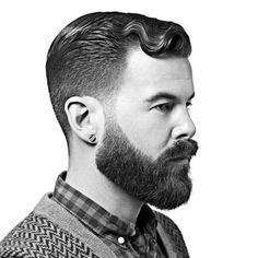 Trendy edgy B&W pictures of mens hair & beard - Google Search