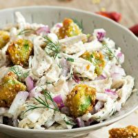 Hot 'n' Crunchy Avocado & Chicken Salad by Adam Richman