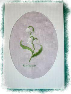 Grille point de croix offerte Muguet Porte Bonheur! - Les grilles de Liselotte; lily of the valley cross stitch point de croix