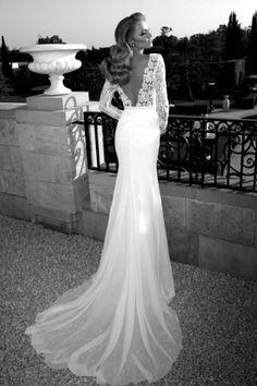 Beautiful wedding dress and pose