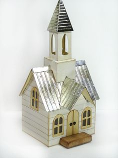 Annette's Creative Journey: CHA Designs - Tim Holtz Village Dwelling and Bell Tower Sizzix Alterations