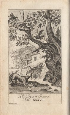 """""""The Cock and the Fox""""  (Recueil 1, Livre 2, fable 15)"""