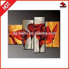 Moderne en aluminium or, rouge. l'art. calla lily groupe peinture à l'huile 4 panneaux-Peinture et calligraphie-Id du produit:1904236305-french.alibaba.com