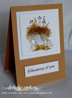 Art Impressions Wonderful Watercolor. Handmade water color card with bucket and flowers.