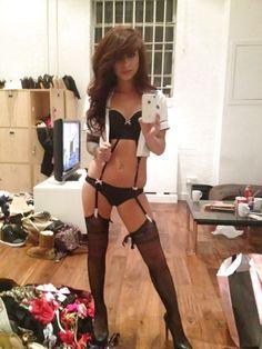 femboy in black lingerie