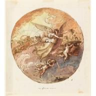 Project for Ceiling Design: Aurora, Felice Giani, 1810–25