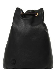 detailed look 89ce5 939ef The Mi-Pac Tumbled Swing Bag in Black offers a distinct feminine shape with  backpack